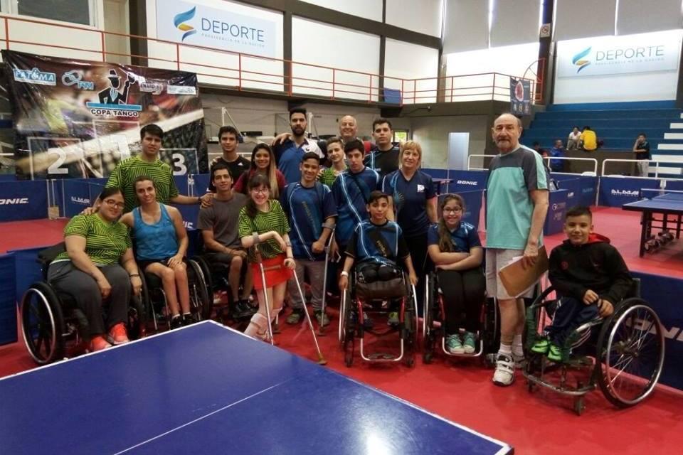 Tenis de mesa adaptado: siete medallas en la Copa Tango Juvenil