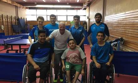 Tenis de mesa adaptado: Mac Allister visitó a la Selección Argentina