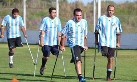 Chaco y una clínica de fútbol para amputados