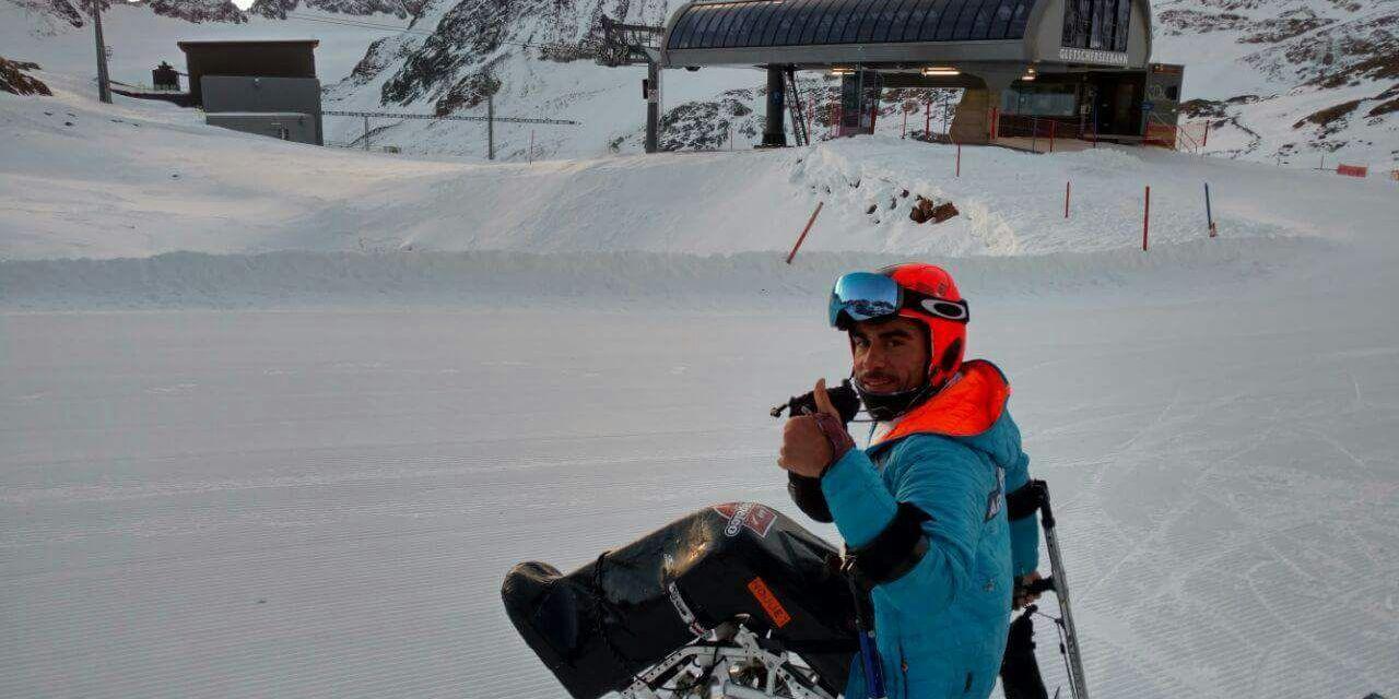 Ski adaptado: Plantey representa a Argentina en la Copa del Mundo de Austria