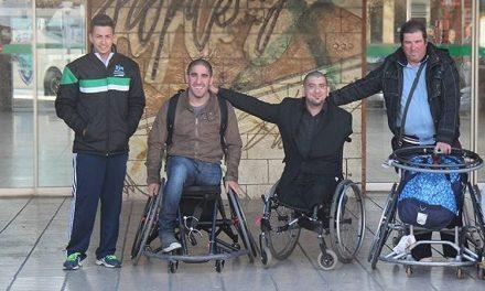 Básquet adaptado: primer entrenamiento de Gabas y Villafañe en Extremadura