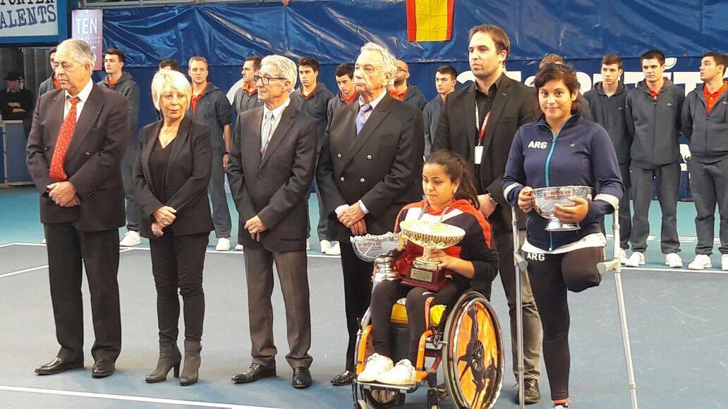 Tenis adaptado: Antonella Pralong, subcampeona del Master Junior en Francia