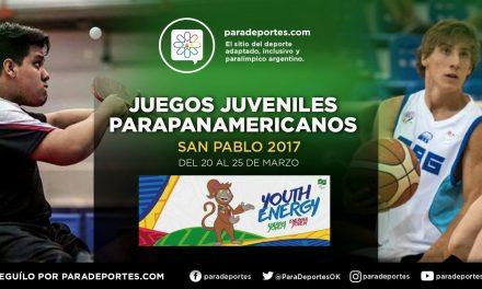 Ya está la lista de Argentina para los Juegos Parapanamericanos Juveniles São Paulo 2017