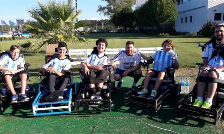 Messi recibió a la Selección Argentina de powerchair football