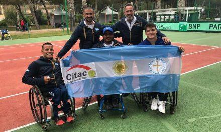 Tenis adaptado: Argentina, quinta en la Copa del Mundo