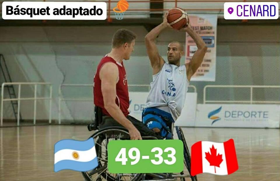 Básquetbol adaptado: Argentina se hizo fuerte y superó con claridad a Canadá