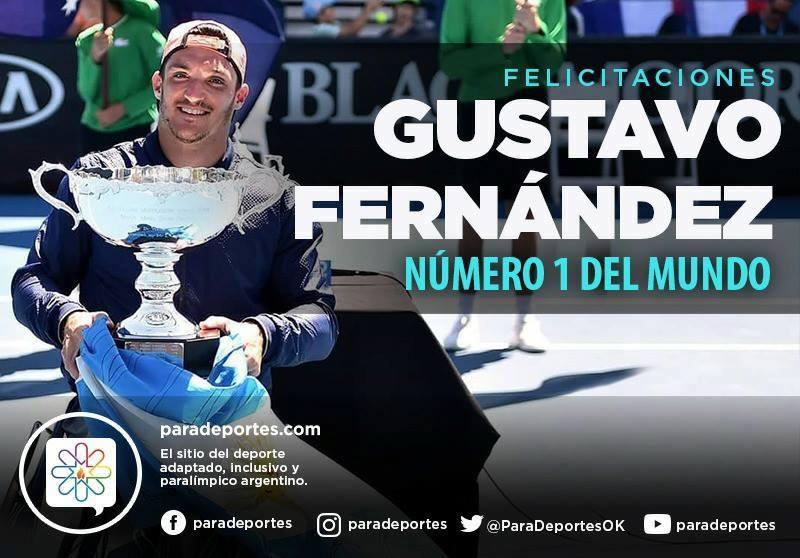 Tenis adaptado: ¡Gustavo Fernández, nuevo Número 1 del mundo!