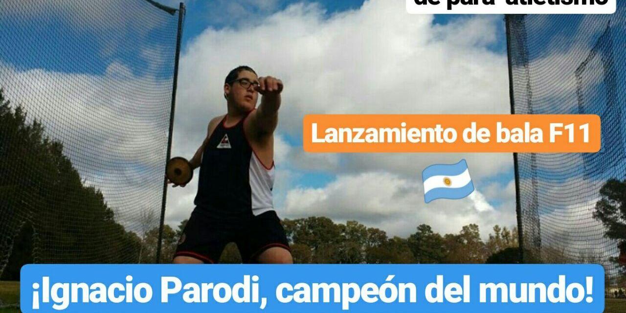 Mundial Juvenil de para-atletismo: ¡Ignacio Parodi, campeón mundial en lanzamiento de bala!
