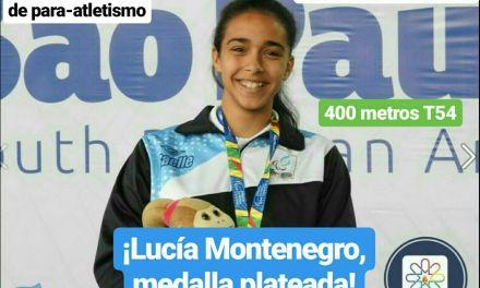 Mundial Juvenil de para-atletismo: ¡Lucía Montenegro, medalla plateada en los 400 metros!