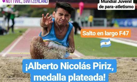 Mundial Juvenil de para-atletismo: ¡Alberto Nicolás Piriz, medalla plateada!