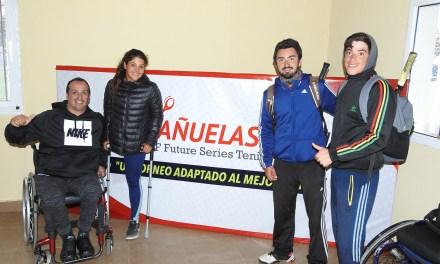 Tenis adaptado: a pesar de la lluvia, comenzó el Cañuelas Open, con grandes partidos
