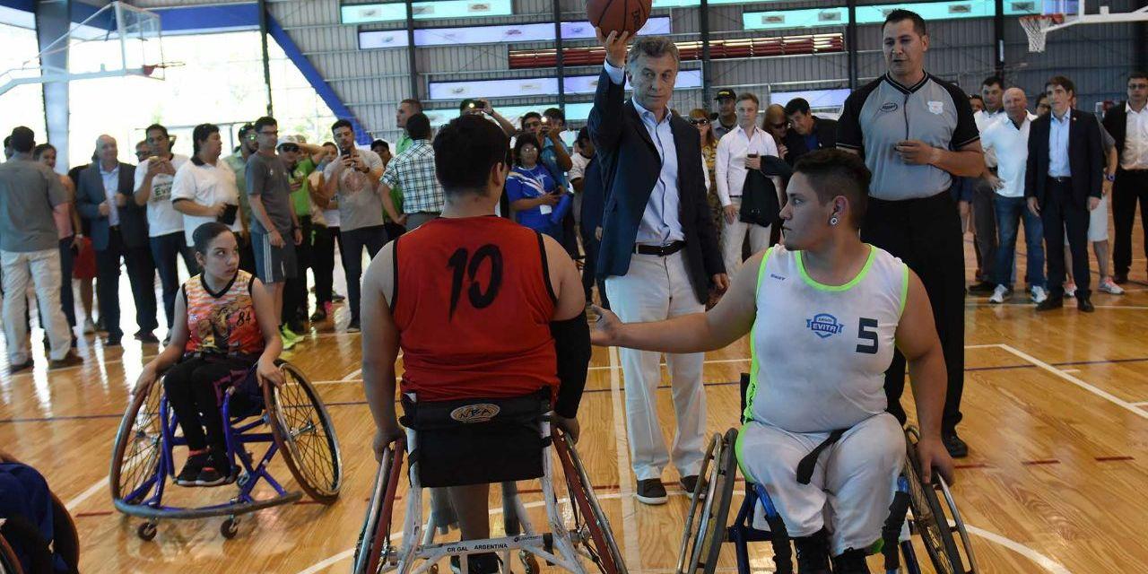 Juegos Nacionales Evita: el presidente Mauricio Macri presente en la última jornada