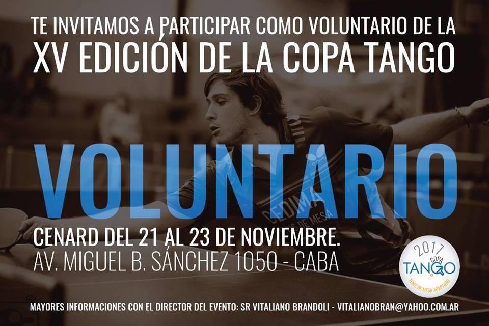 Tenis de mesa adaptado: sumate como voluntario a la Copa Tango