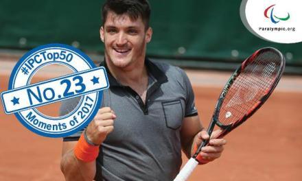 Tenis adaptado: Gustavo Fernández, reconocido por el IPC