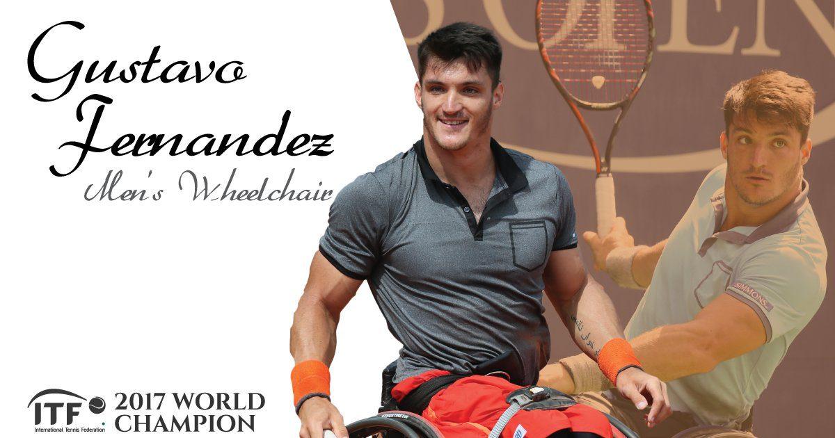 Tenis adaptado: Gustavo Fernández, reconocido como el mejor del mundo en 2017
