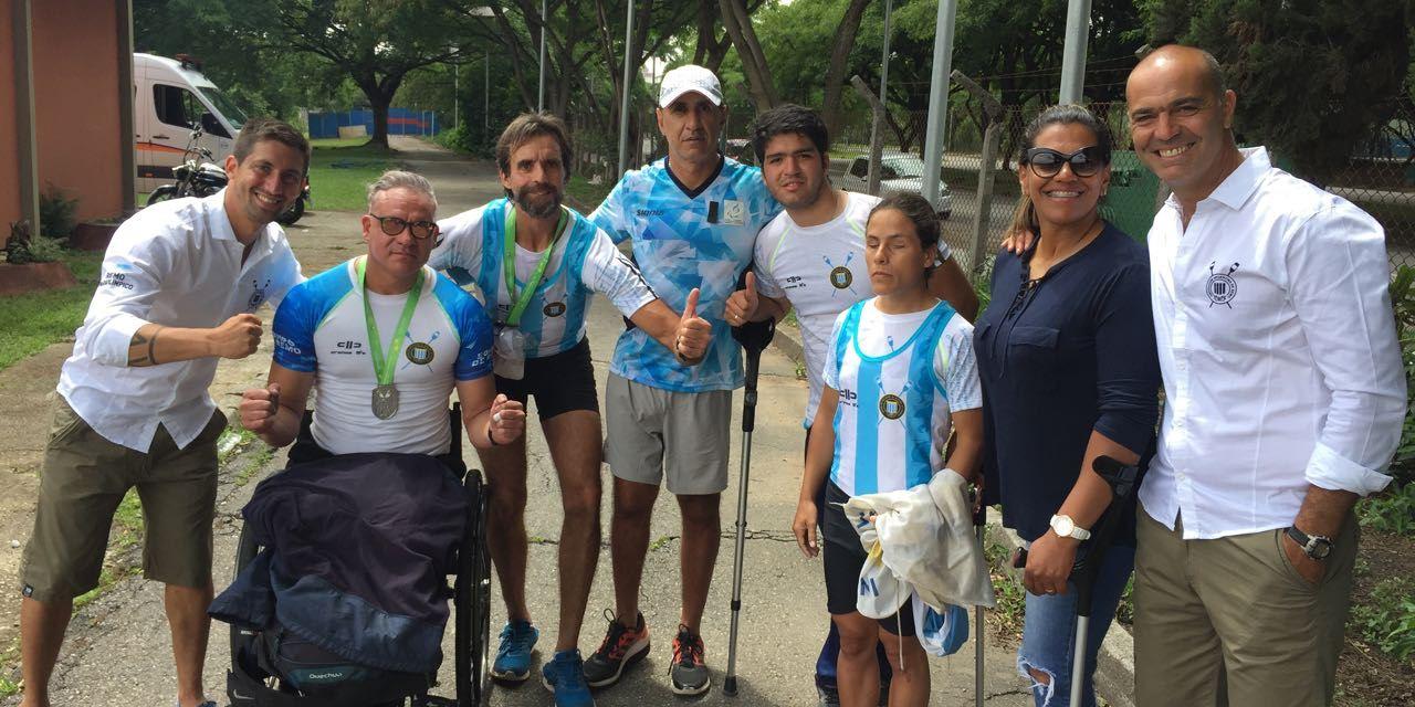 Remo paralímpico: tres medallas argentinas en el Campeonato Brasileño