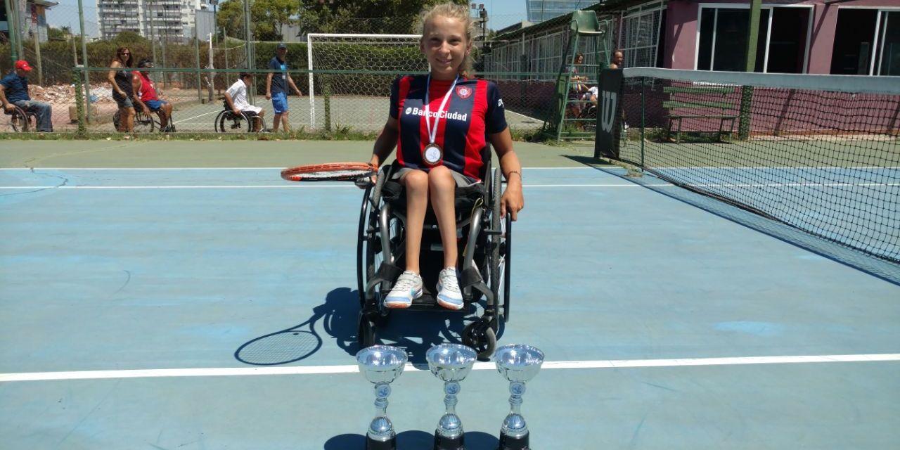 Tenis adaptado | Nicole Dhers sigue creciendo: tres títulos en el Zúñiga 2018