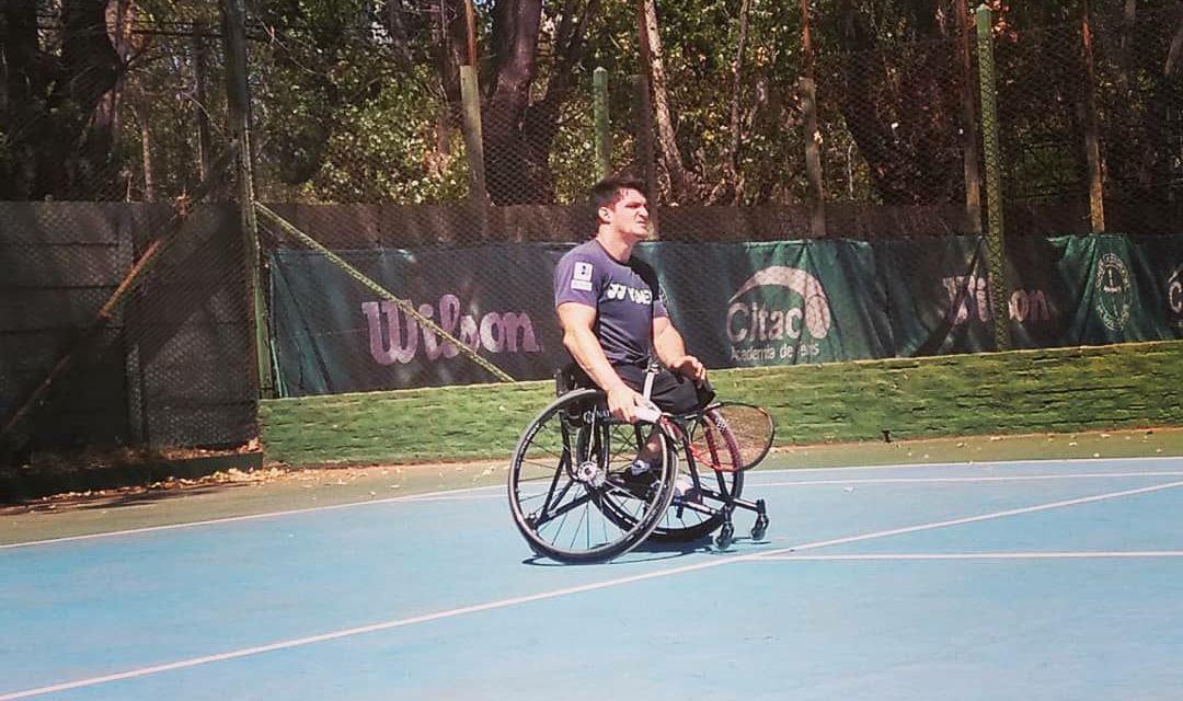 Tenis adaptado: Gustavo Fernández se prepara en Buenos Aires para la gira por Norteamérica