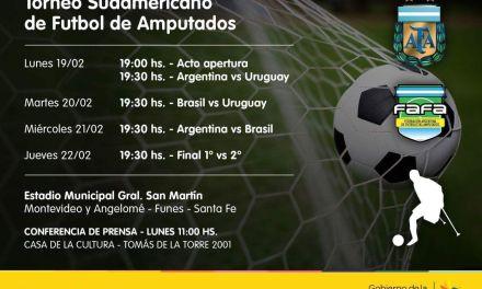 Fútbol de amputados: Argentina, preparada para el comienzo del Sudamericano en Santa Fe