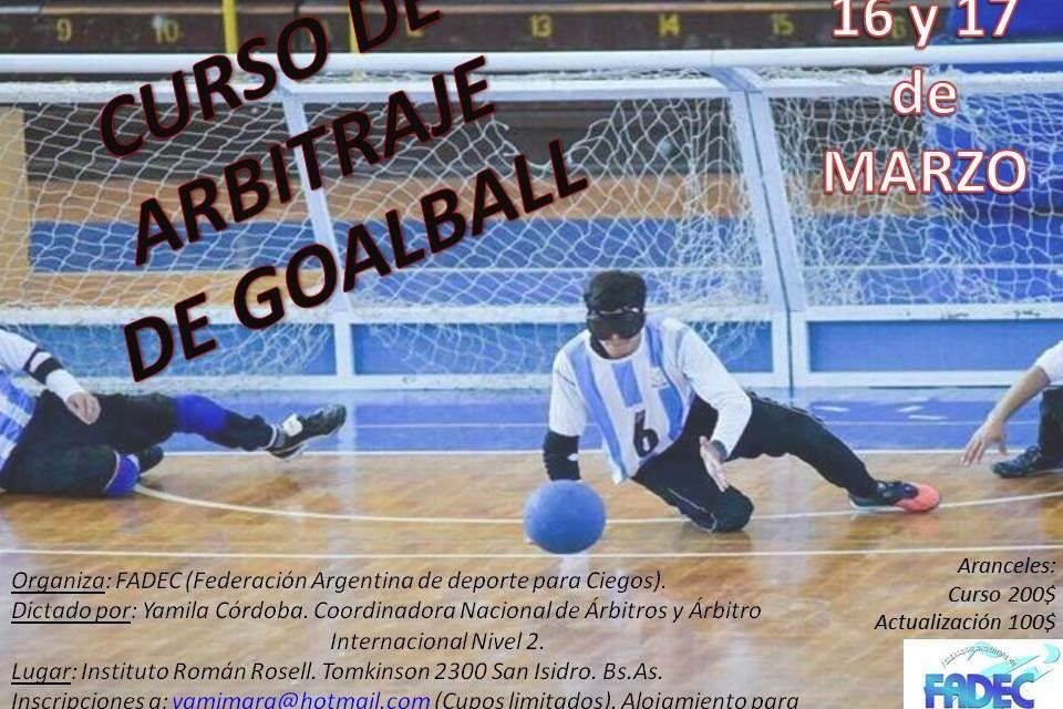 Goalball: cursos para árbitros
