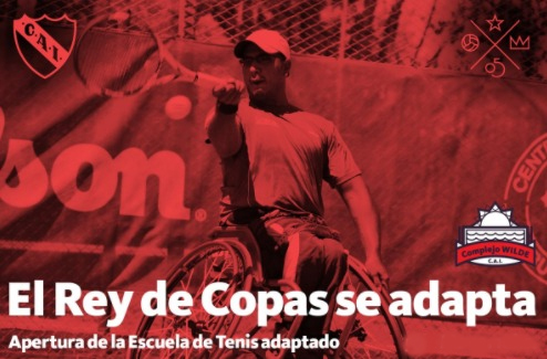 Independiente tendrá su escuela de tenis adaptado