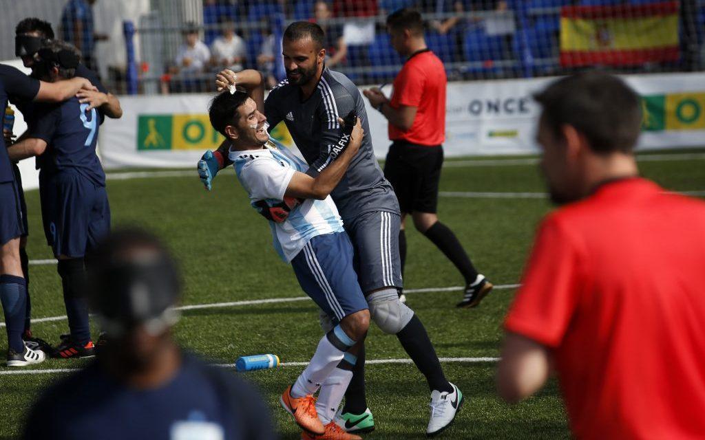 Fútbol para ciegos: Los Murciélagos eliminaron a Inglaterra y son semifinalistas