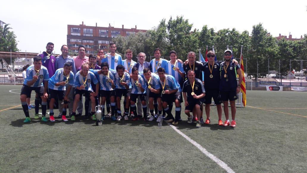 Fútbol 7: Argentina festejó a lo grande en Barcelona