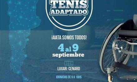 Tenis adaptado: encuentro nacional de escuelas en el CENARD