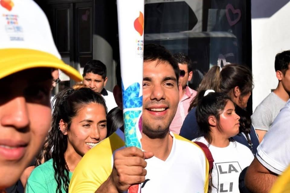 Judo paralímpico: Effron recibió a la antorcha de Buenos Aires 2018 en La Rioja