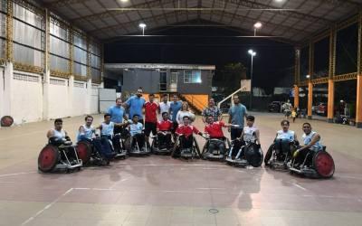 Quad rugby: la Selección Argentina ofreció una clínica en Tucumán