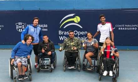 Tenis adaptado: tres campeones en Brasil