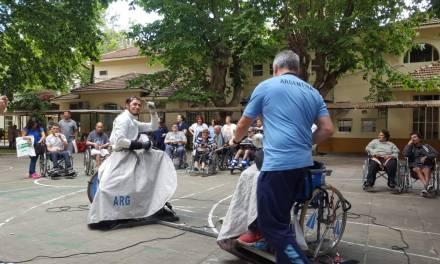 Esgrima paralímpica: exhibición en el Hospital Rocca