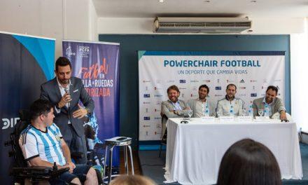 El powerchair football tuvo su presentación para la prensa