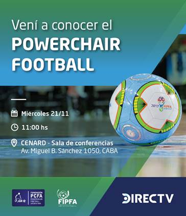 Powerchair football: conferencia de difusión en el CENARD