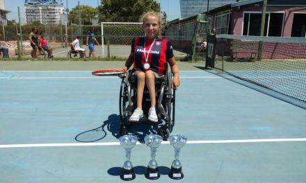 Tenis adaptado: Nicole Dhers, top 3 del mundo en Juniors