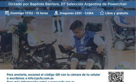 Powerchair football: clínica en Buenos Aires