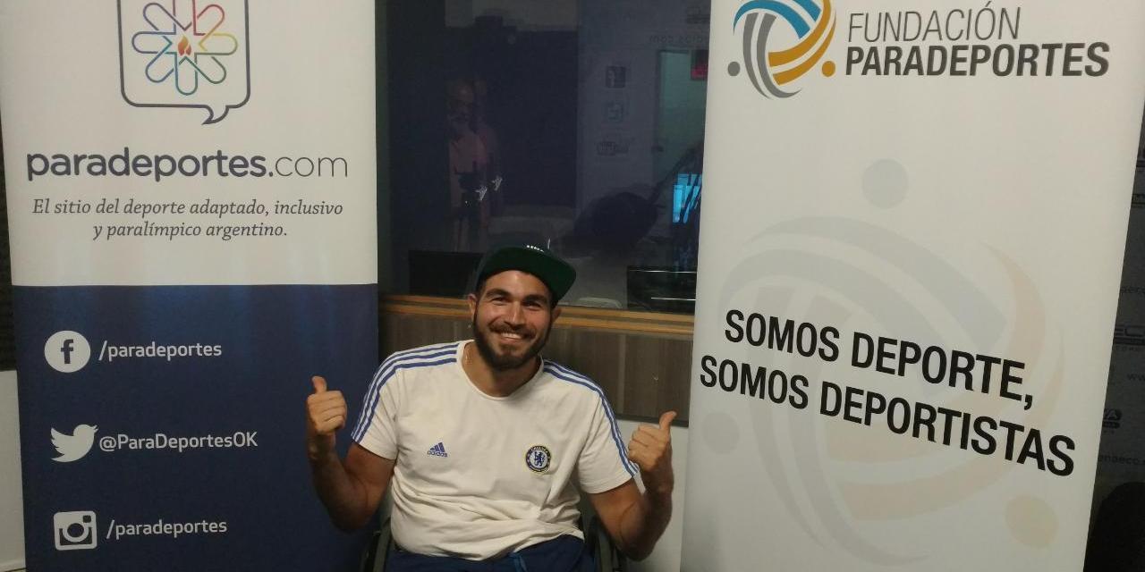 """Gabriel Copola en Paradeportes Radio: """"Hay que cambiar la mirada social sobre las personas con discapacidad"""""""