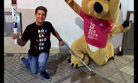 Arregui recibió a la antorcha suramericana en Rosario