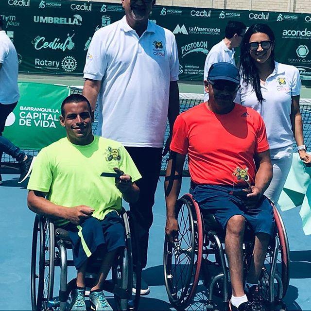Tenis adaptado: Casco, subcampeón en Colombia