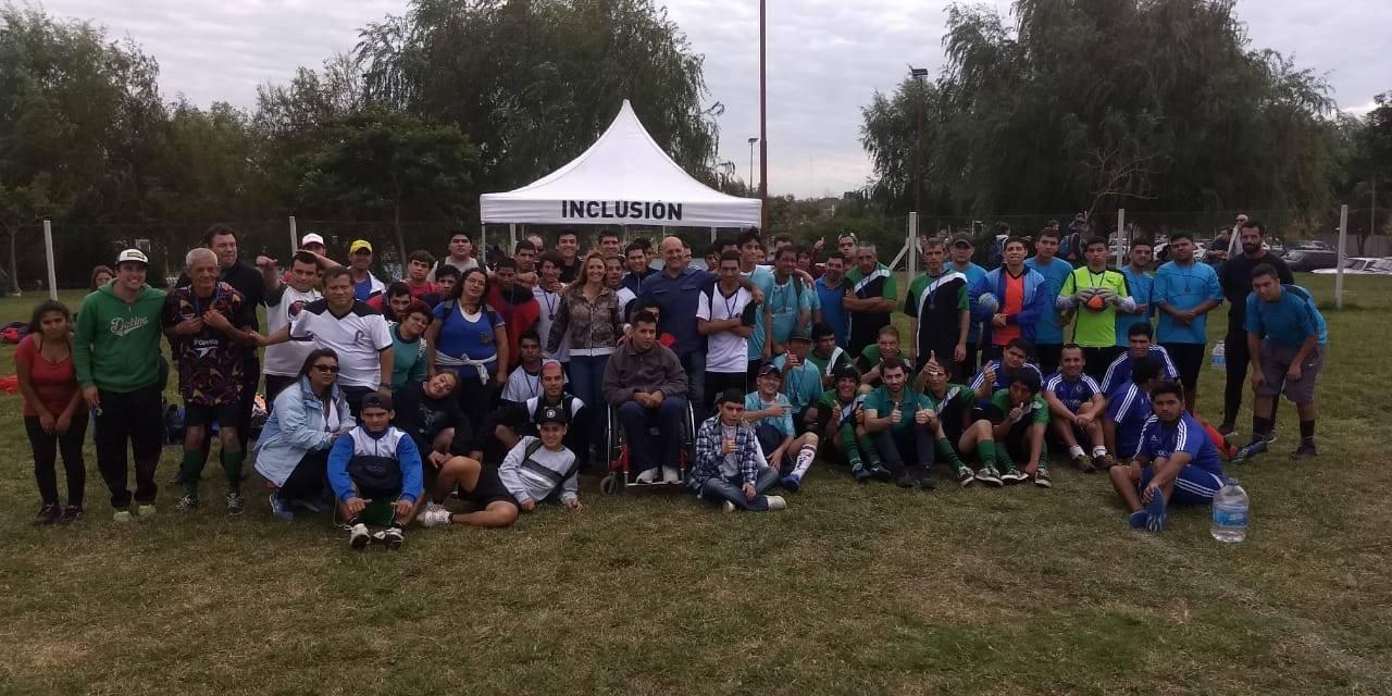 En Pilar hubo fútbol para personas con parálisis cerebral