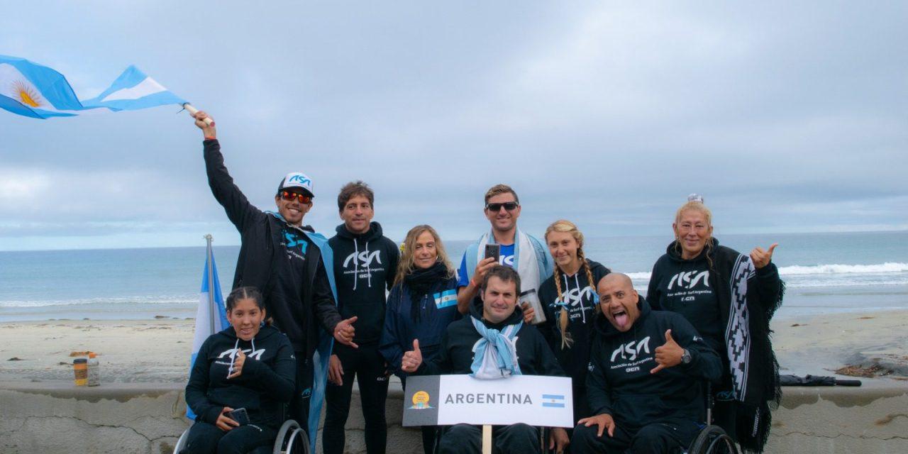 Surf adaptado: dos podios y una histórica actuación argentina en el Mundial de California