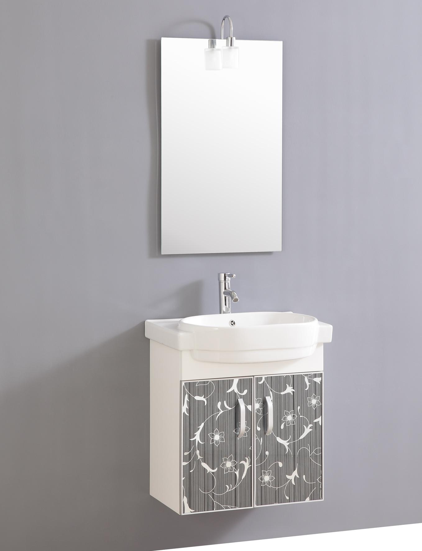 Design Waschtisch Gaste Wc Mit Armatur Spiegel Und Beleuchtung Sofort Ebay