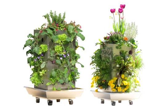 Balkonhochbeet KUBI mit Bewässerung und Kompostierung, rollbar
