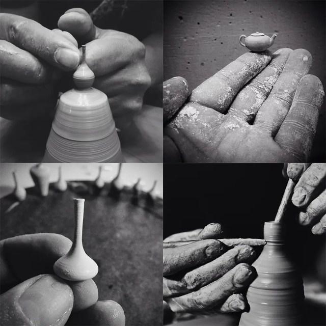 Miniatuur pottenbakken