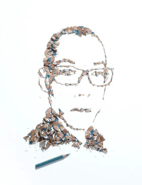 portretten van potloodslijpsel