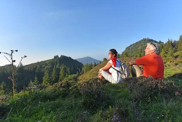 Uitzicht op de chaine des puys   Beeld: Comité Régional de Développement Touristique d'Auvergne
