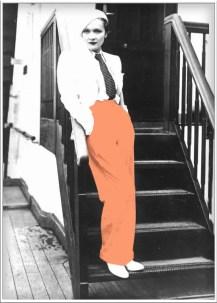 vrouwen geschiedenis Trousers