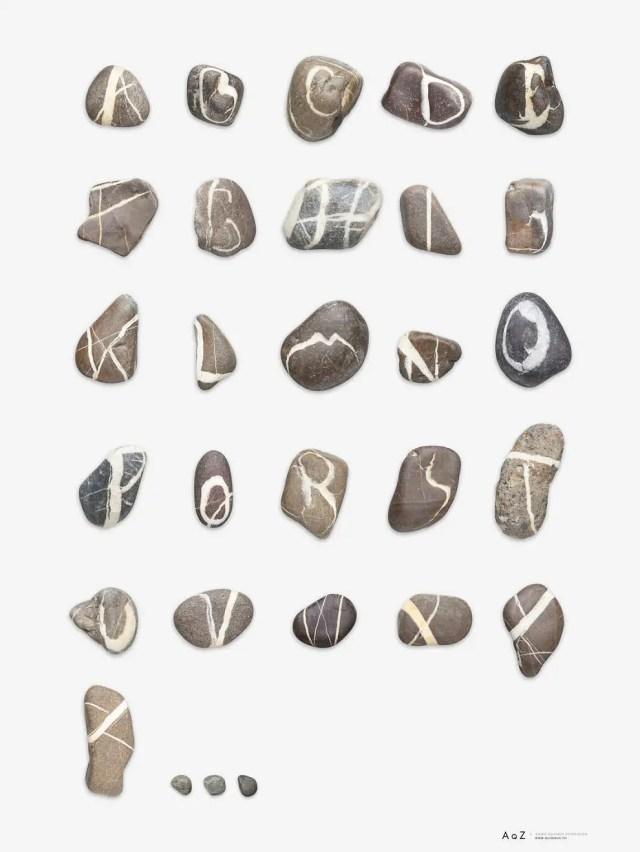 stenen alfabet