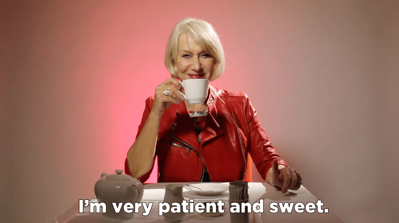 Helen Mirren patient