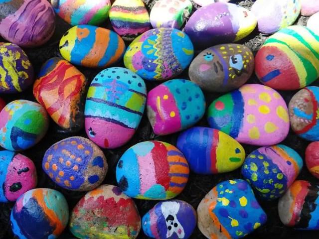 Gekleurde stenen project